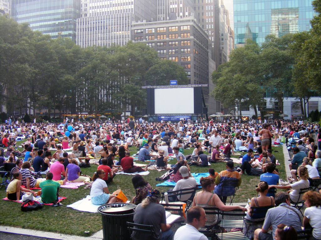The Central Park film festival is perfect for relaxing with friends and family.