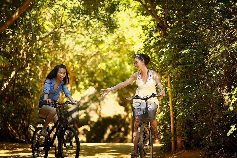 Cycling is a great way to stay in shape and explore more of the park.